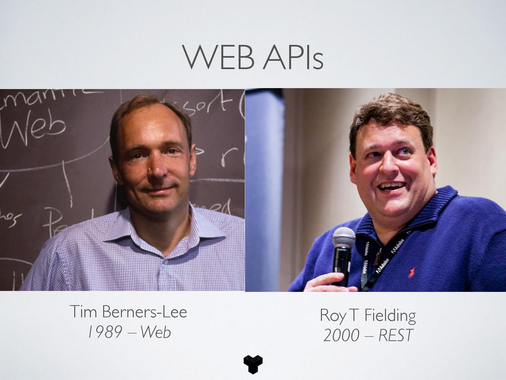 WEB APIs Tim Berners-Lee 1989 – Web Roy T Field...