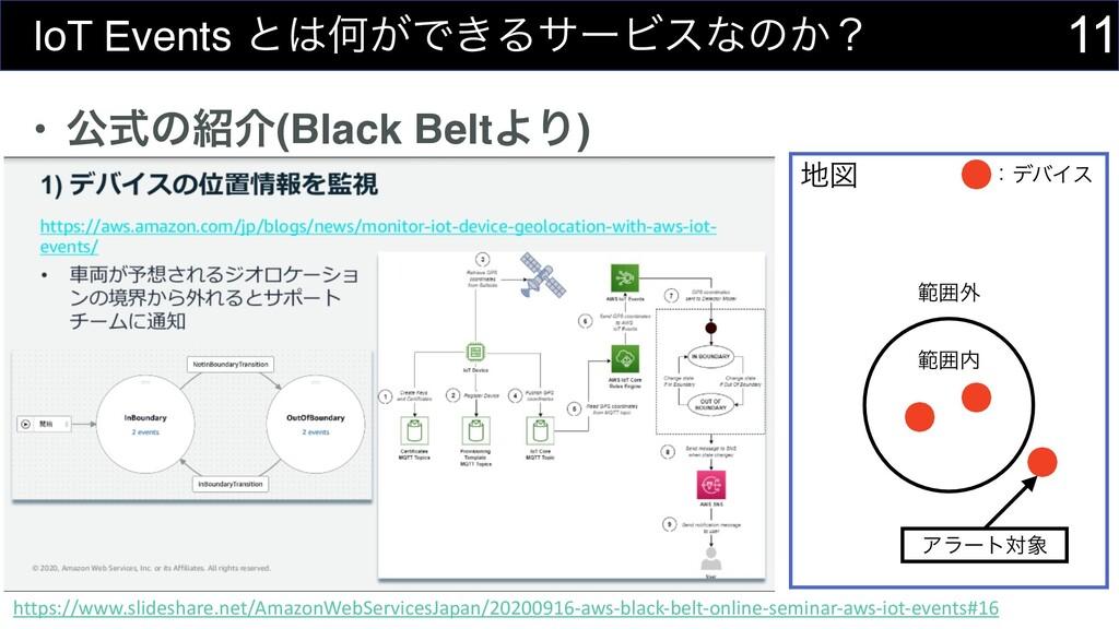• ެࣜͷհ(Black BeltΑΓ) 11 IoT Events ͱԿ͕Ͱ͖ΔαʔϏε...