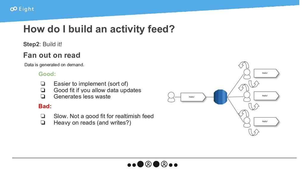 Step2: Build it! Fan out on read Data is genera...