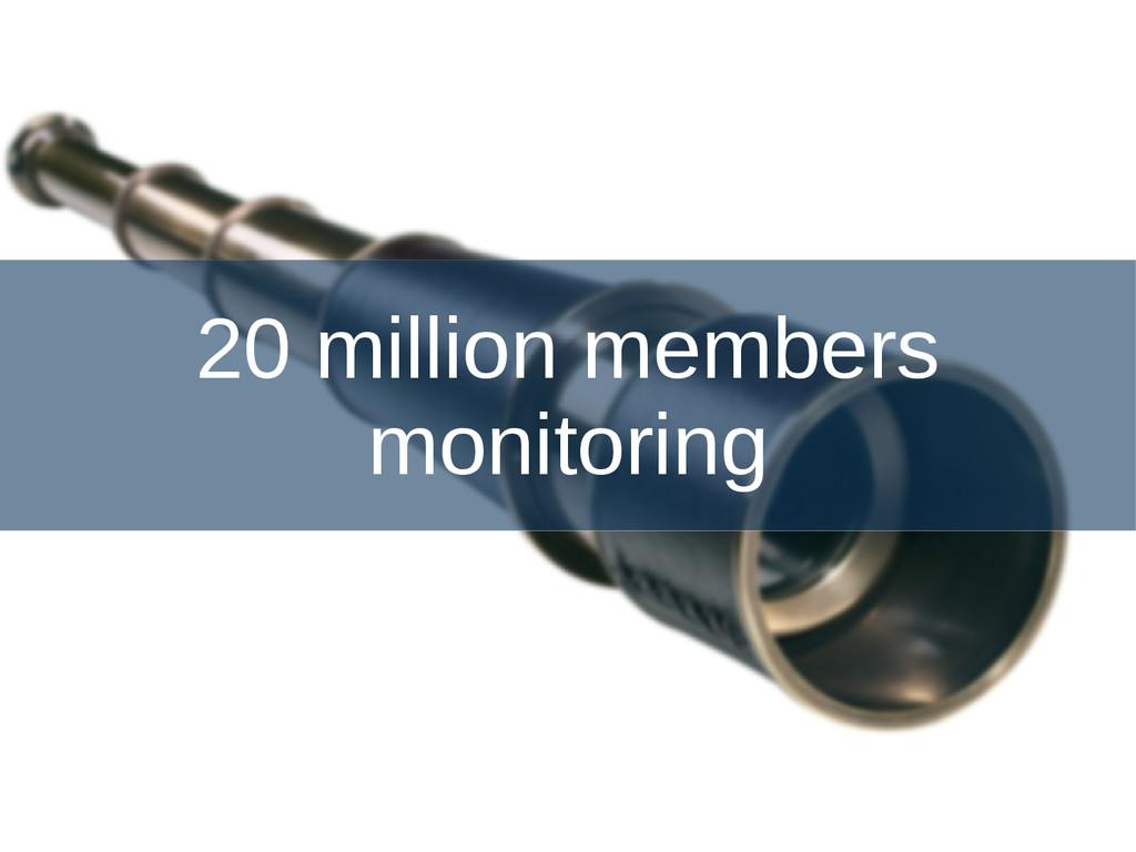 20 million members monitoring