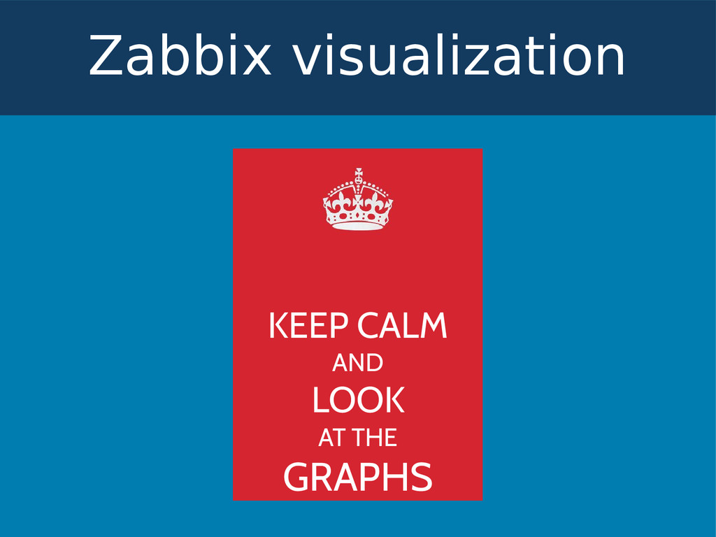 Zabbix visualization KEEP CALM AND LOOK AT THE ...