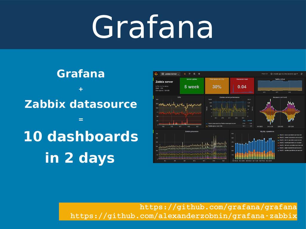 Grafana + Zabbix datasource = 10 dashboards in ...