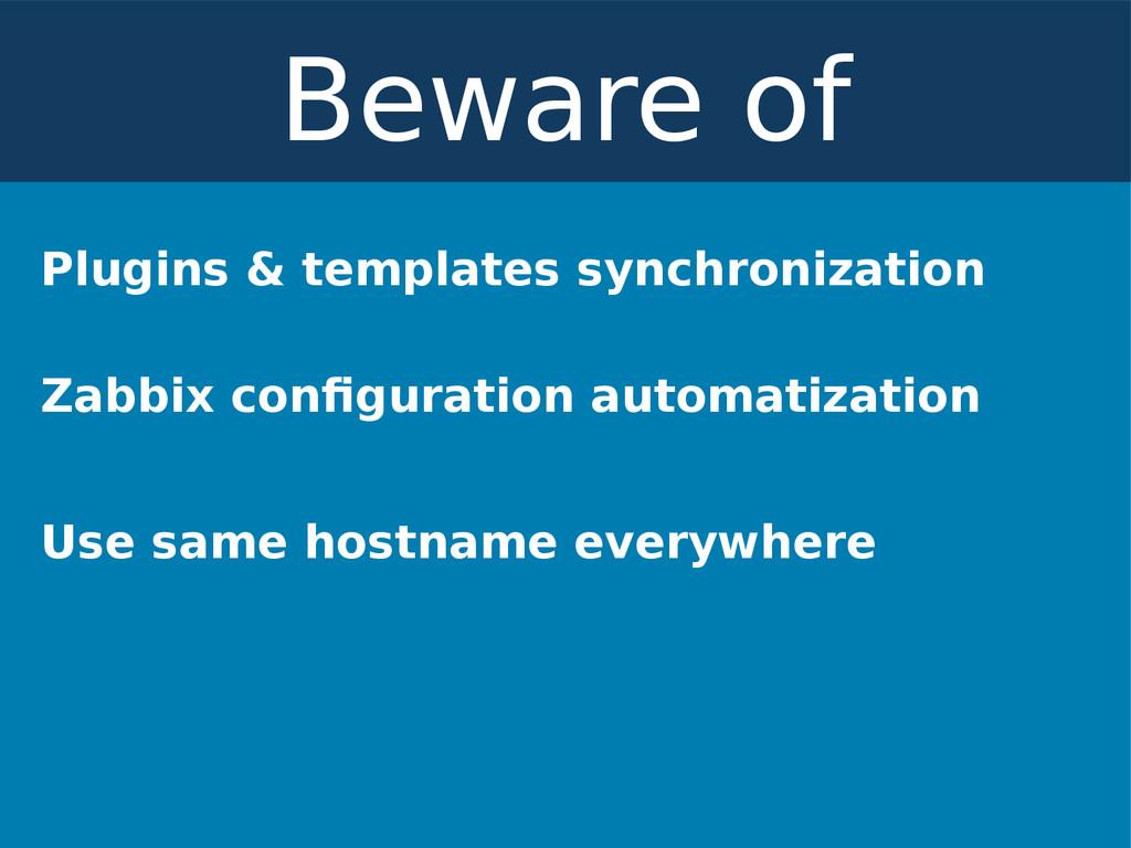 Plugins & templates synchronization Zabbix conf...