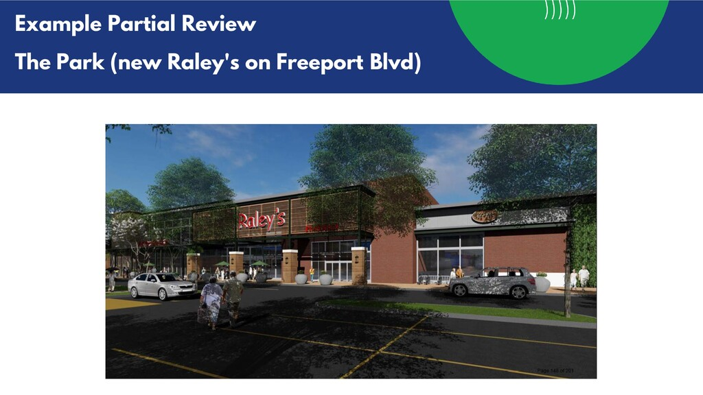 Example Partial Review The Park (new Raley's on...