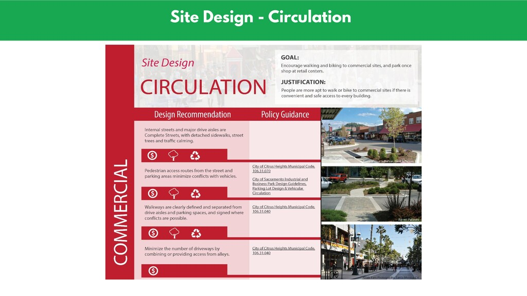 Site Design - Circulation