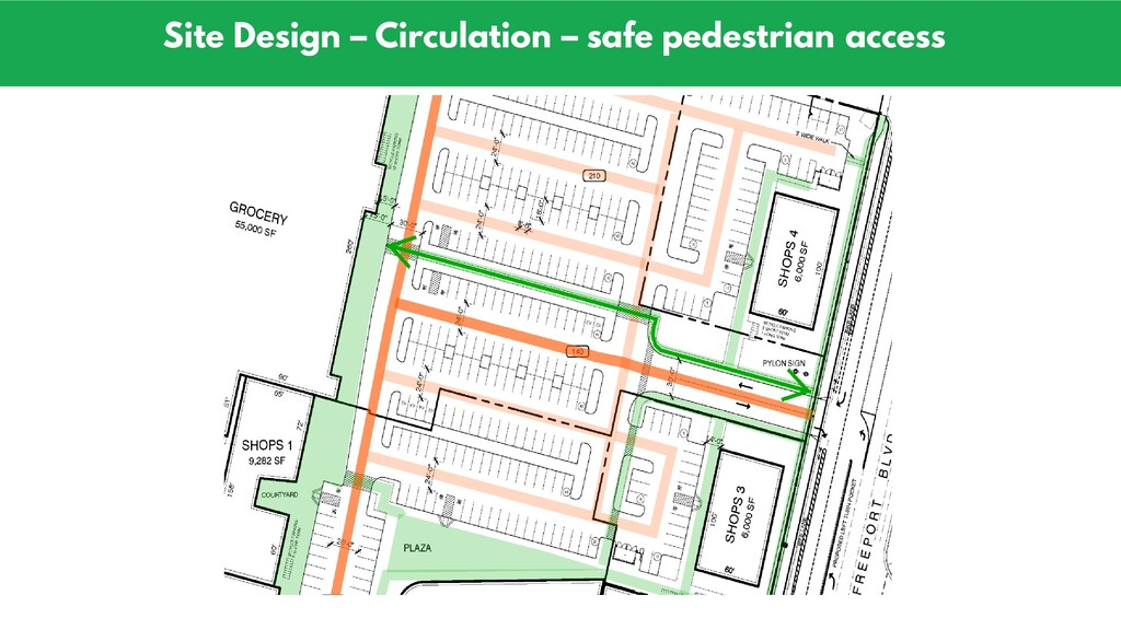 Site Design – Circulation – safe pedestrian acc...
