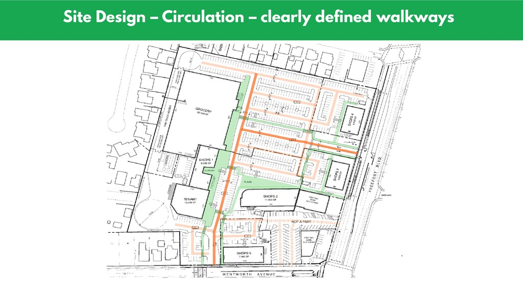 Site Design – Circulation – clearly defined wal...