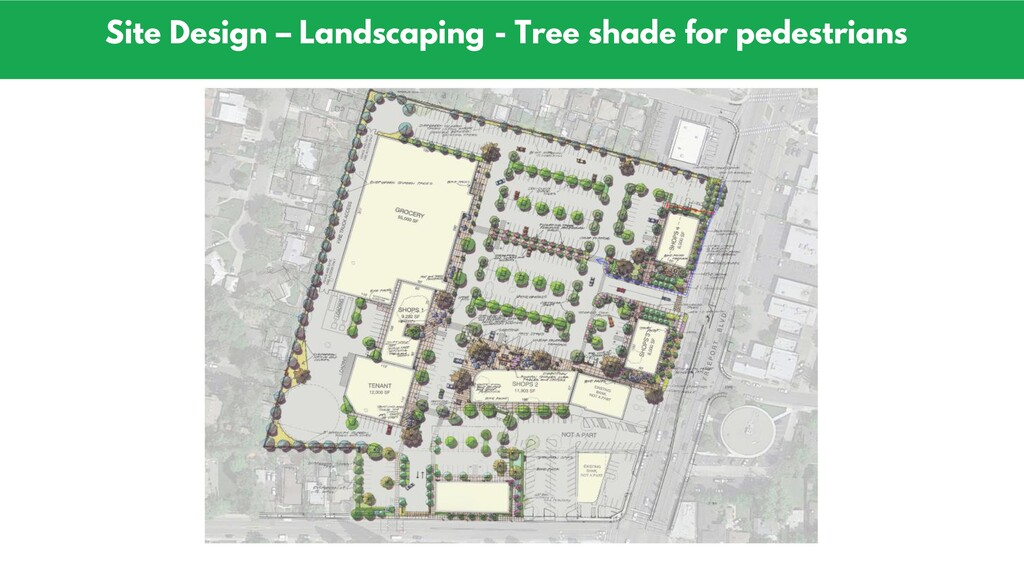 Site Design – Landscaping - Tree shade for pede...