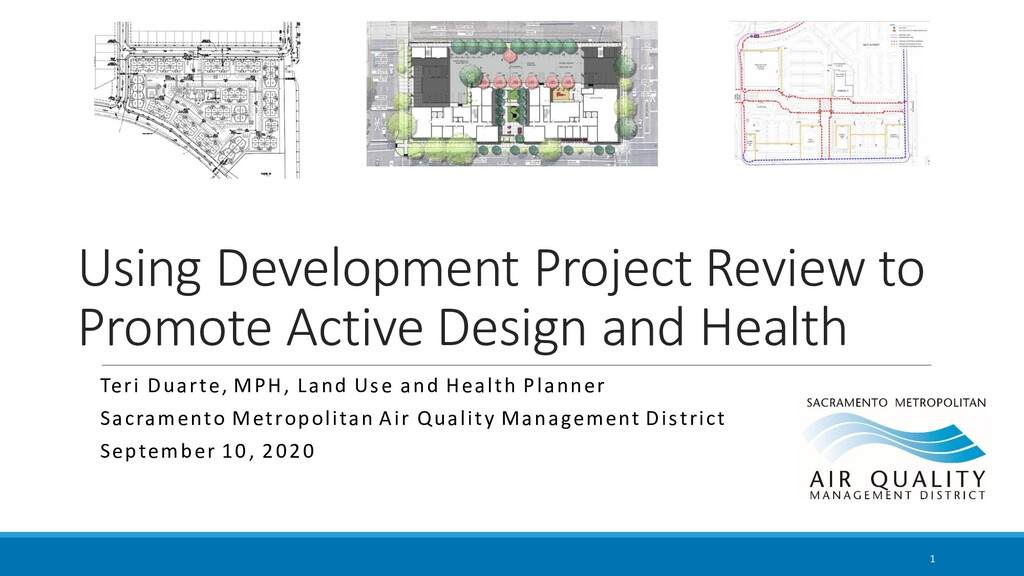 Using Development Project Review to Promote Act...