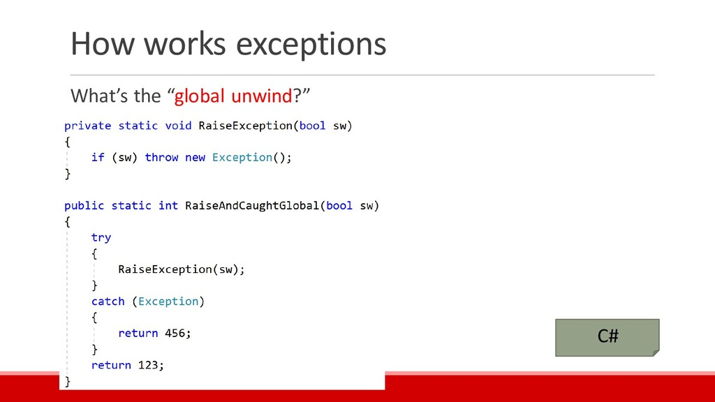 """How works exceptions What's the """"global unwind?..."""