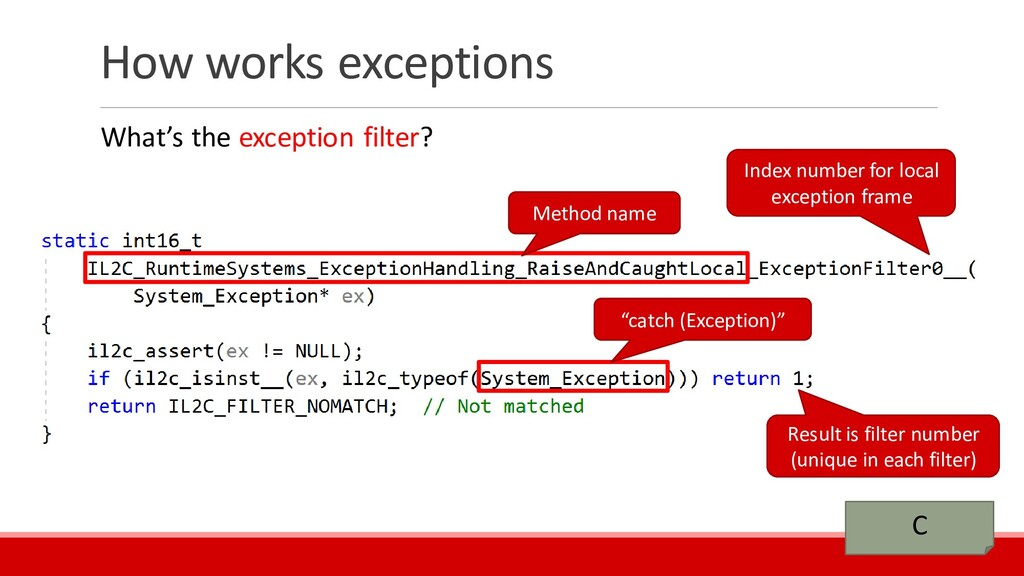 How works exceptions What's the exception filte...