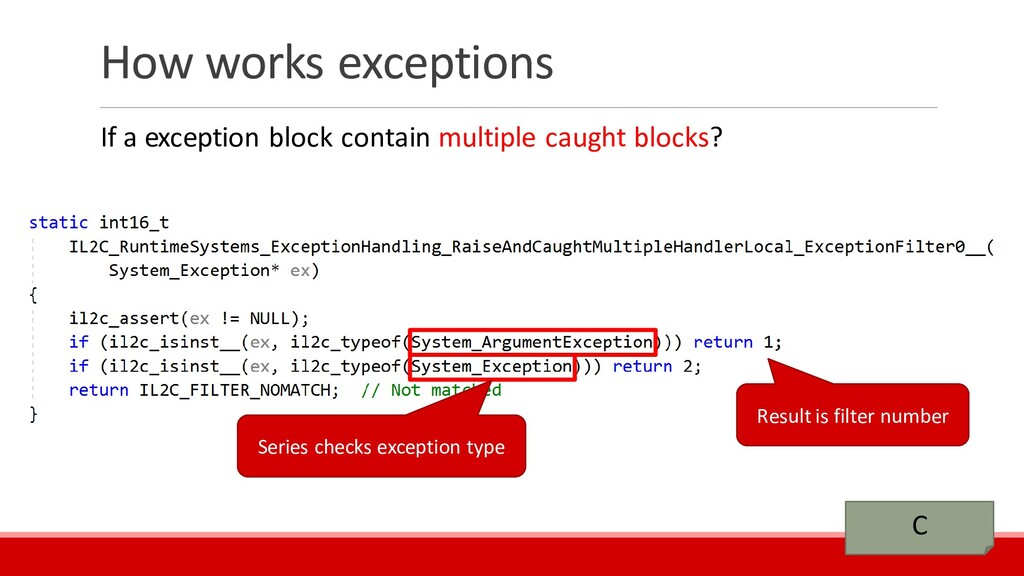 How works exceptions If a exception block conta...