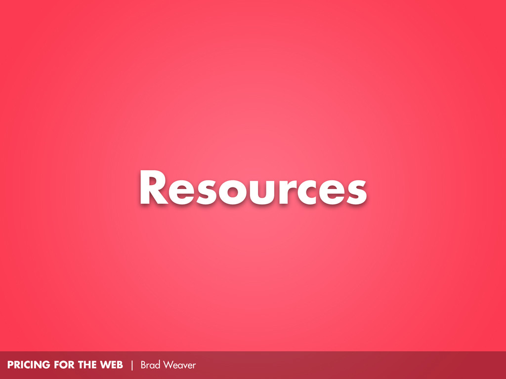 PRICING FOR THE WEB | Brad Weaver Resources