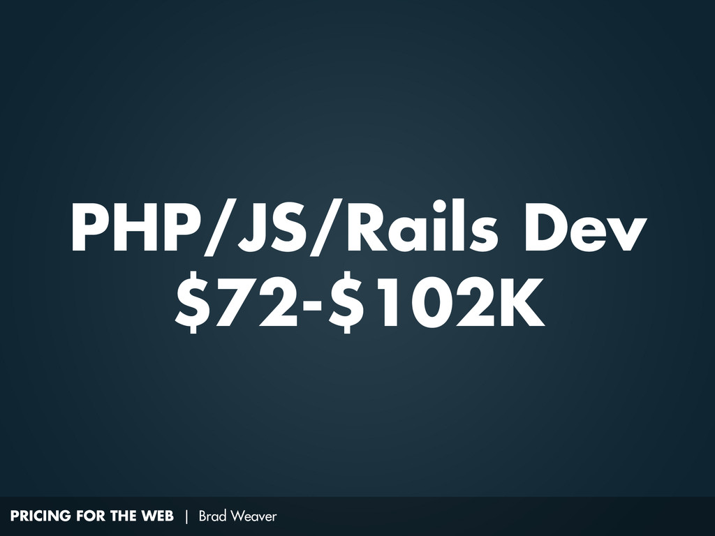 PRICING FOR THE WEB | Brad Weaver PHP/JS/Rails ...