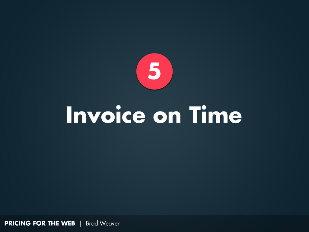 PRICING FOR THE WEB | Brad Weaver 5 Invoice on ...