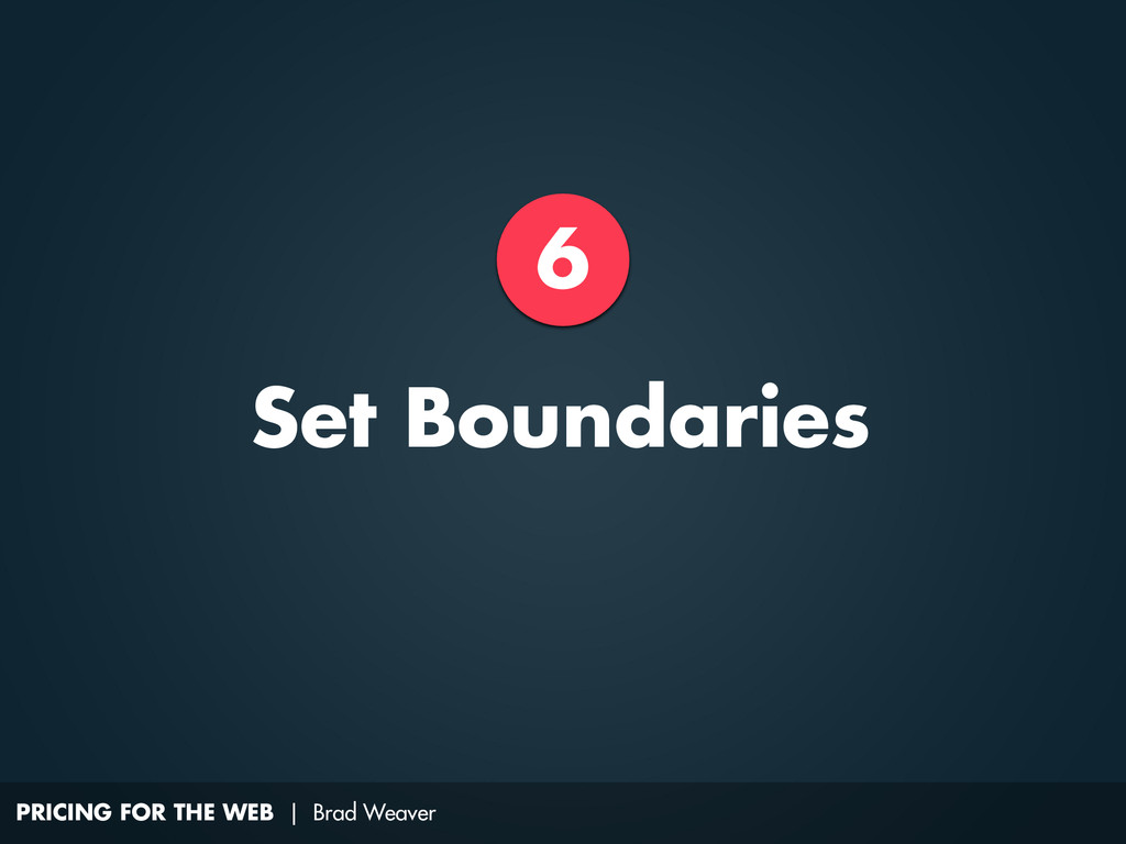 PRICING FOR THE WEB | Brad Weaver 6 Set Boundar...