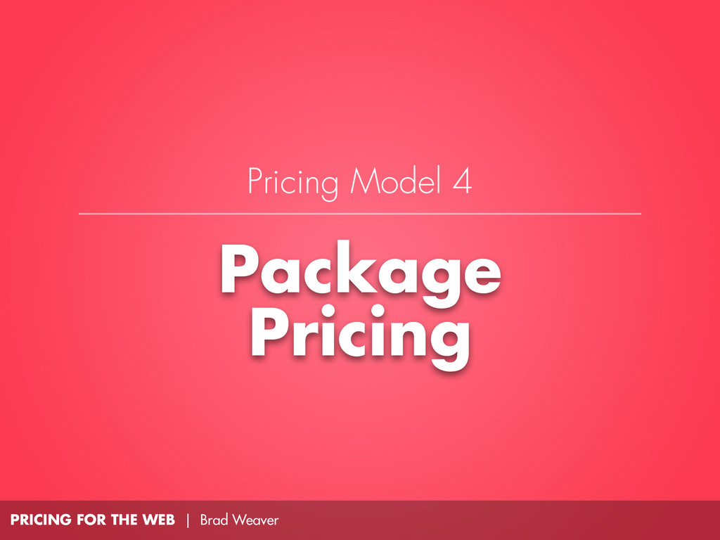 PRICING FOR THE WEB | Brad Weaver Package Prici...