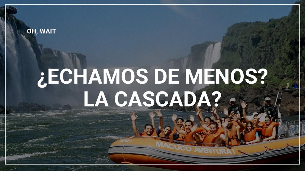 ¿ECHAMOS DE MENOS? LA CASCADA? OH, WAIT