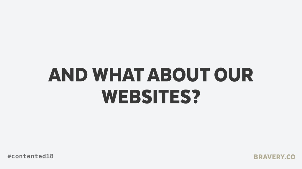 AND WHAT ABOUT OUR WEBSITES? BRAVERY.CO #conten...
