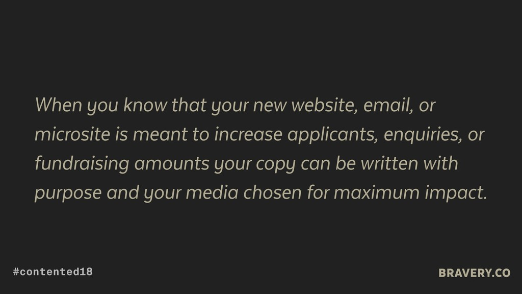 When you know that your new website, email, or ...