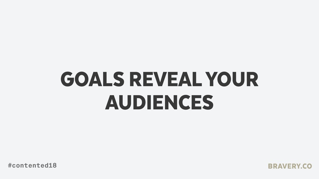 GOALS REVEAL YOUR AUDIENCES BRAVERY.CO #content...