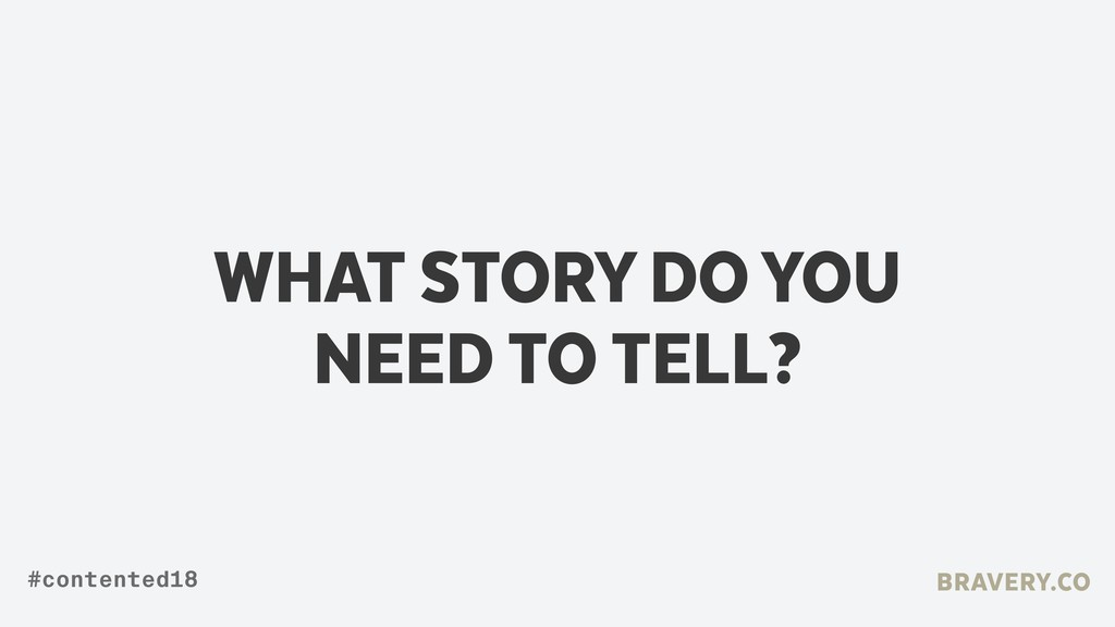 WHAT STORY DO YOU NEED TO TELL? BRAVERY.CO #con...