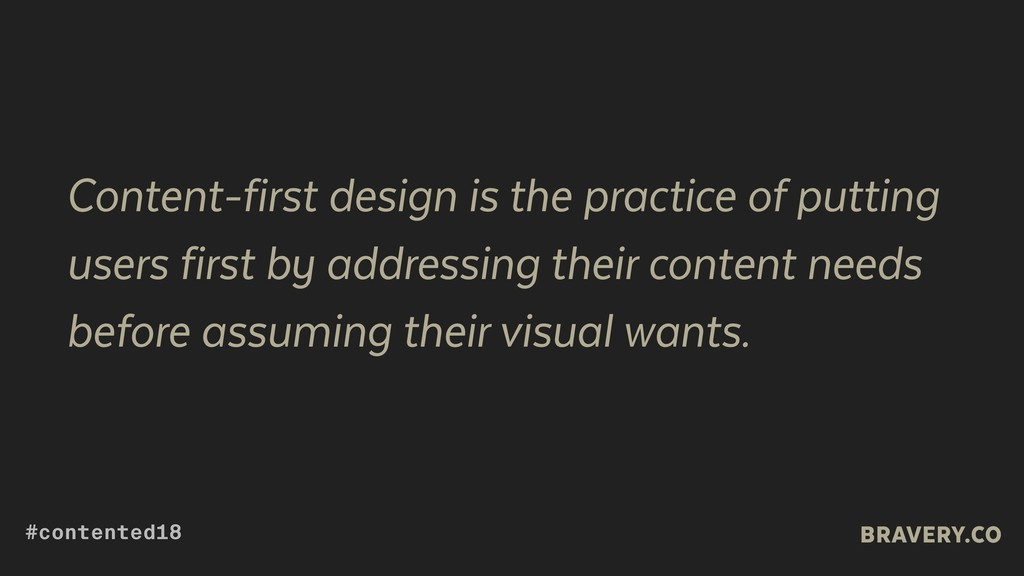 Content-first design is the practice of putting...