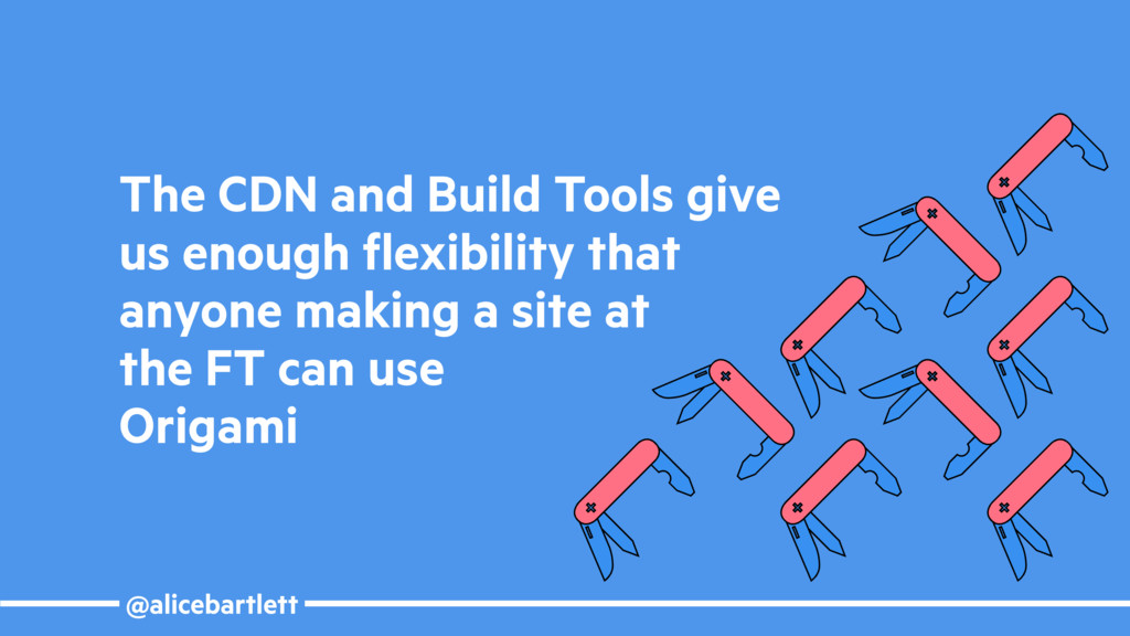 @alicebartlett The CDN and Build Tools give us ...