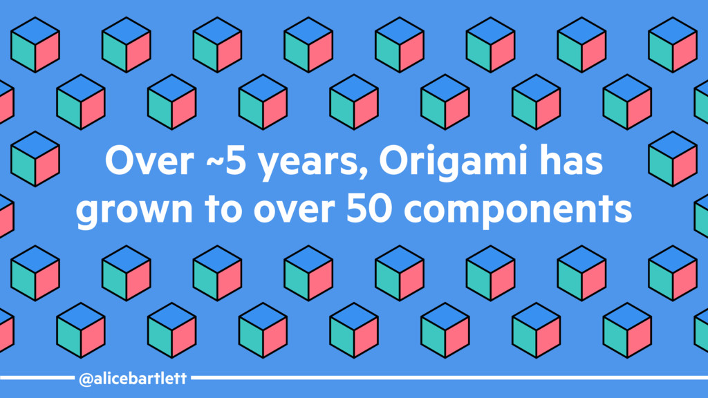 @alicebartlett Over ~5 years, Origami has grown...