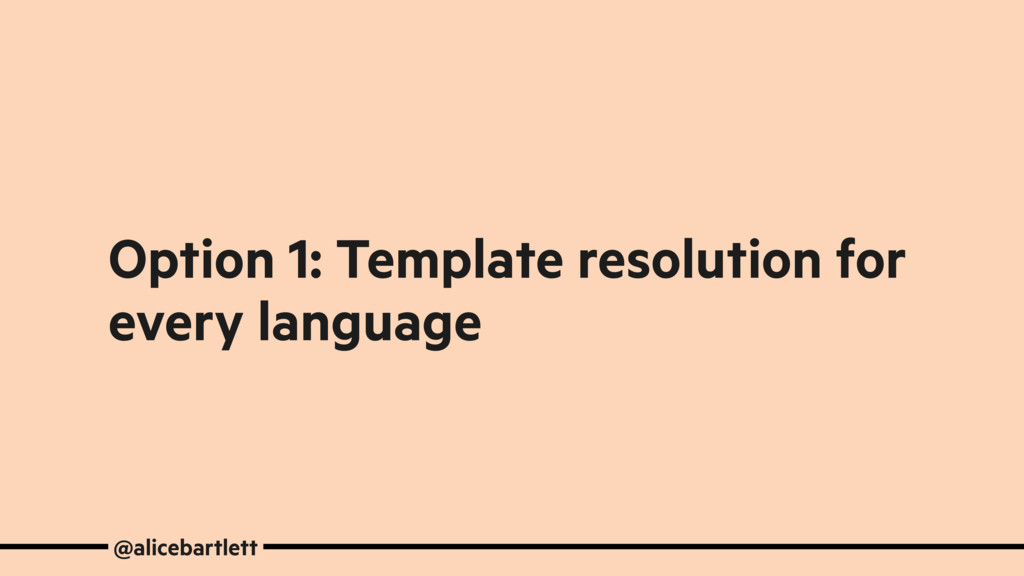 Option 1: Template resolution for every languag...