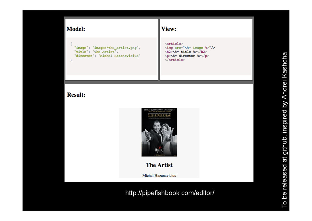 http://pipefishbook.com/editor/ To be released ...