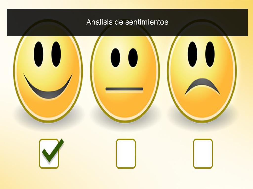 Analisis de sentimientos