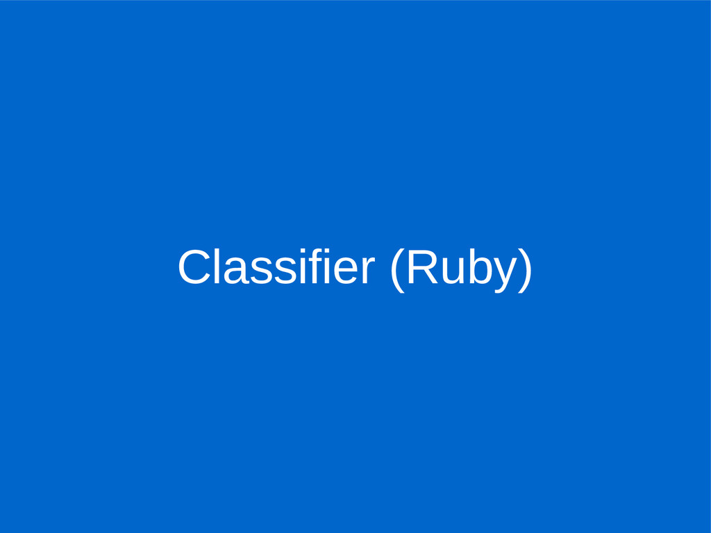 Classifier (Ruby)