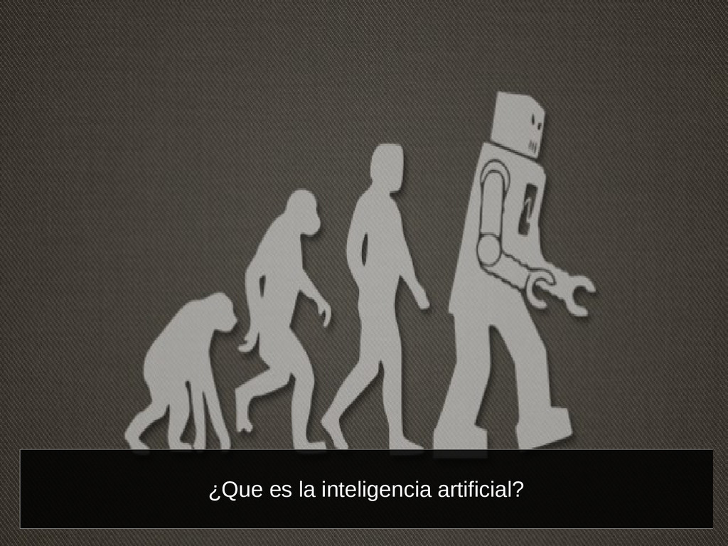 ¿Que es la inteligencia artificial?