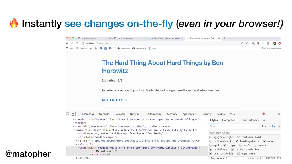 Instantly see changes on-the-fly (even in your ...