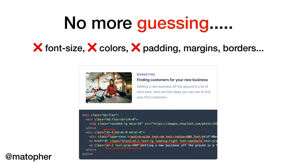 No more guessing..... ❌ font-size, ❌ colors, ❌ ...