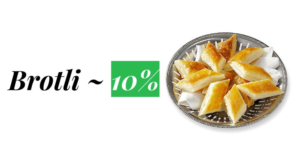 Brotli ~ 10%