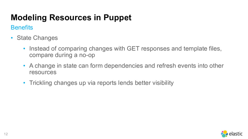 12 Modeling Resources in Puppet • State Changes...