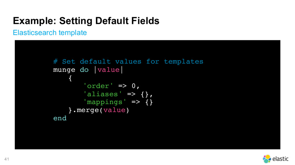 41 Example: Setting Default Fields Elasticsearc...