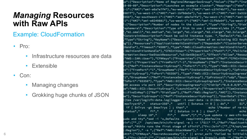 6 Managing Resources with Raw APIs Example: Clo...