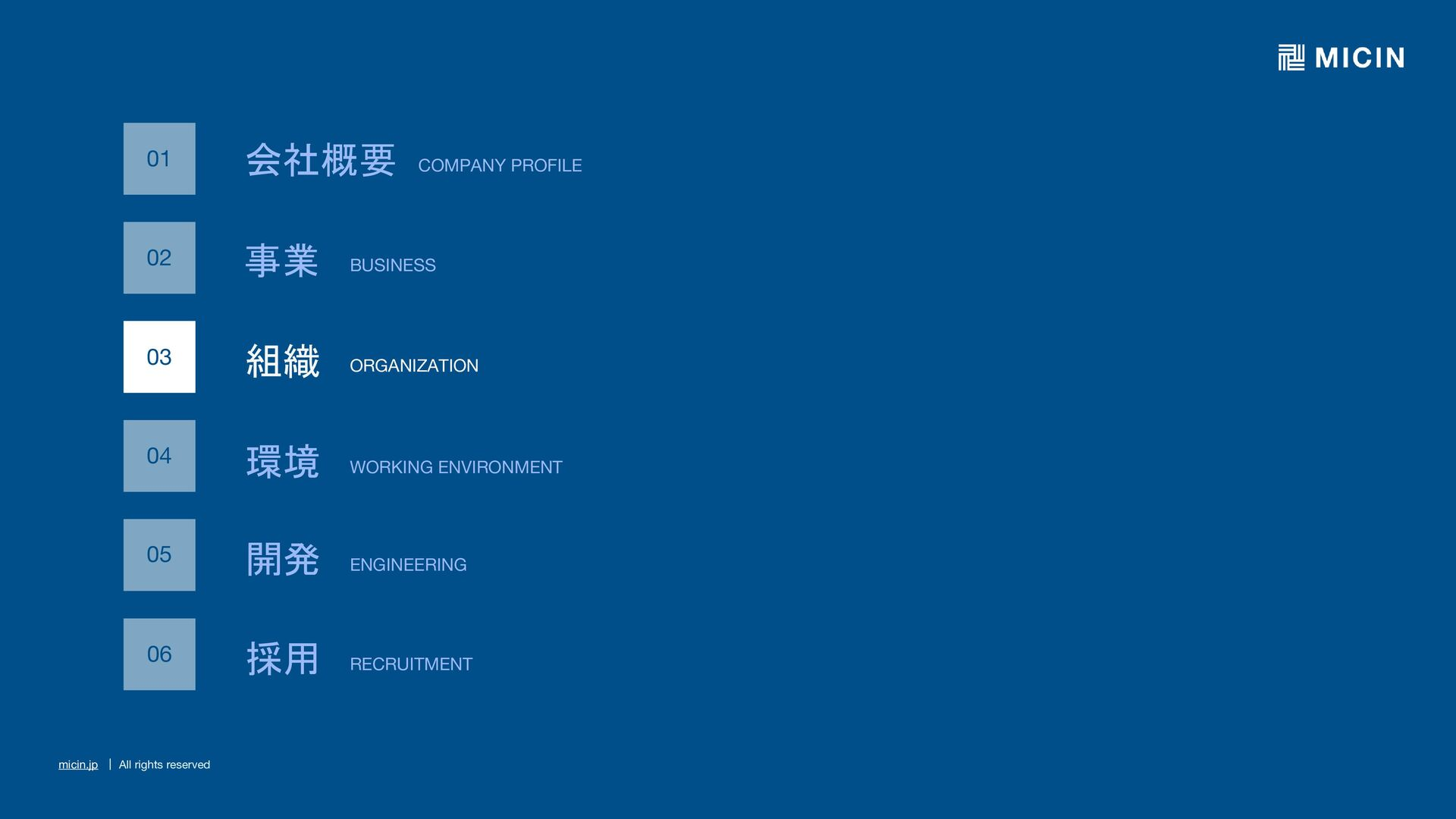 micin.jp   All rights reserved 19 事業 BUSINESS 保...