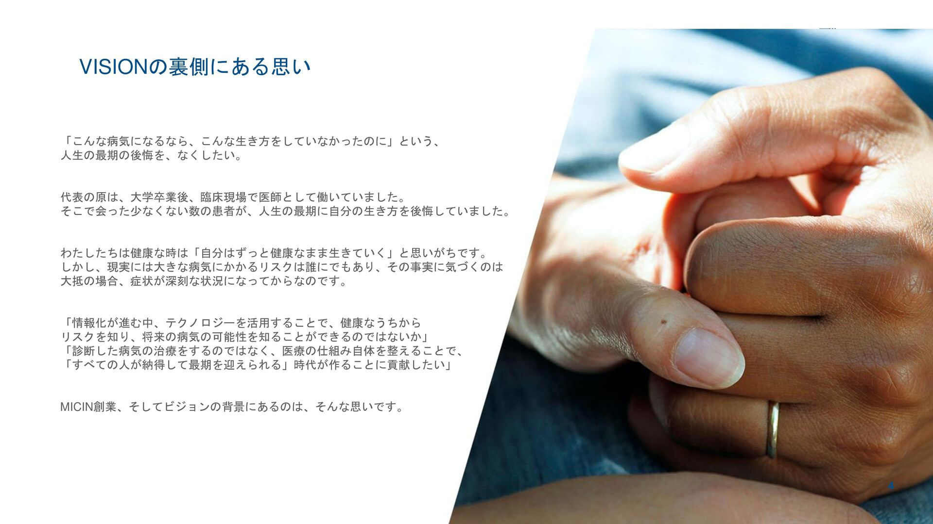 micin.jp   All rights reserved 4 VISION 01 会社概要...