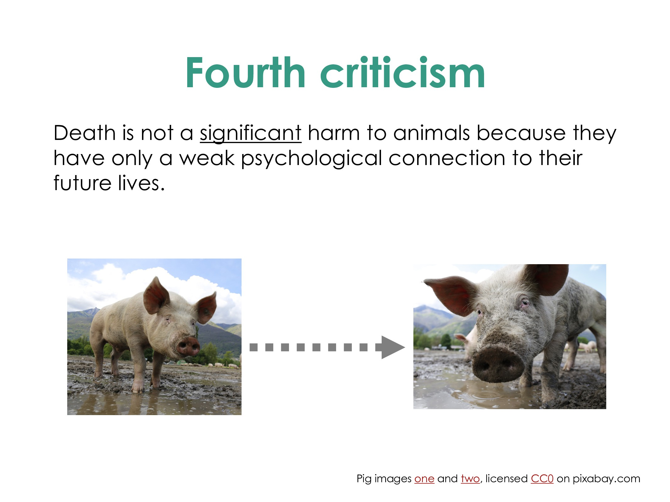 Fourth criticism Death is not a significant har...