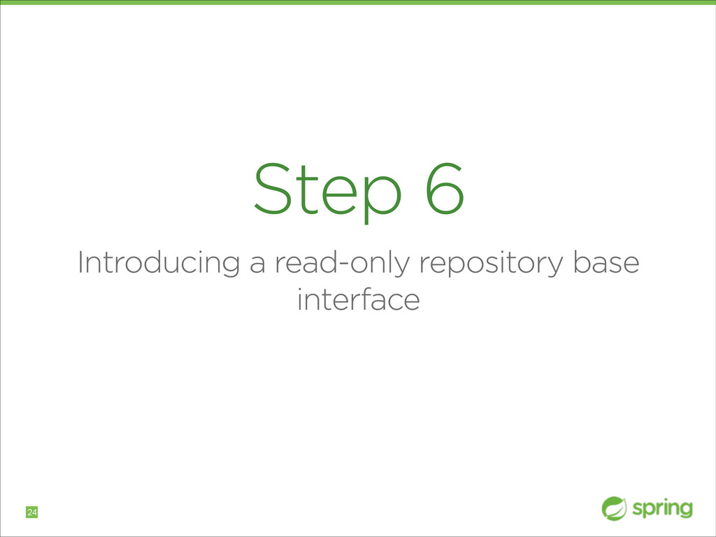 Step 6 Introducing a read-only repository base ...