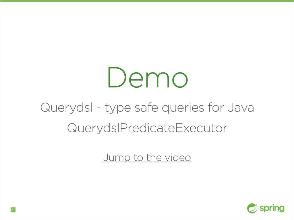 Demo Querydsl - type safe queries for Java Quer...