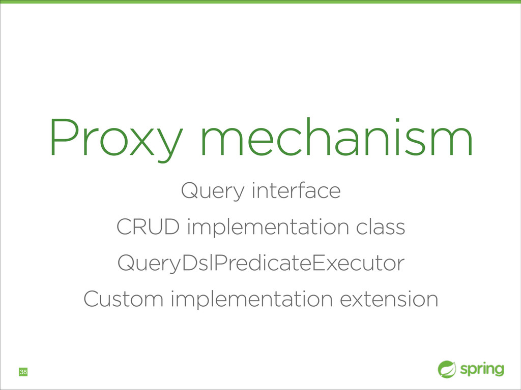 Proxy mechanism Query interface CRUD implementa...