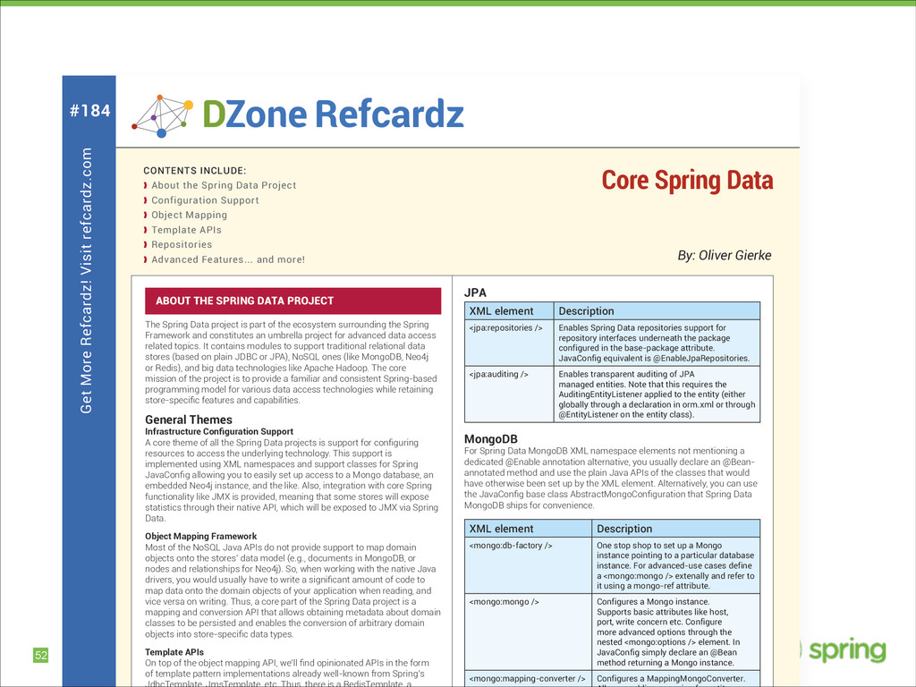 !52 Get More Refcardz! Visit refcardz.com #184 ...