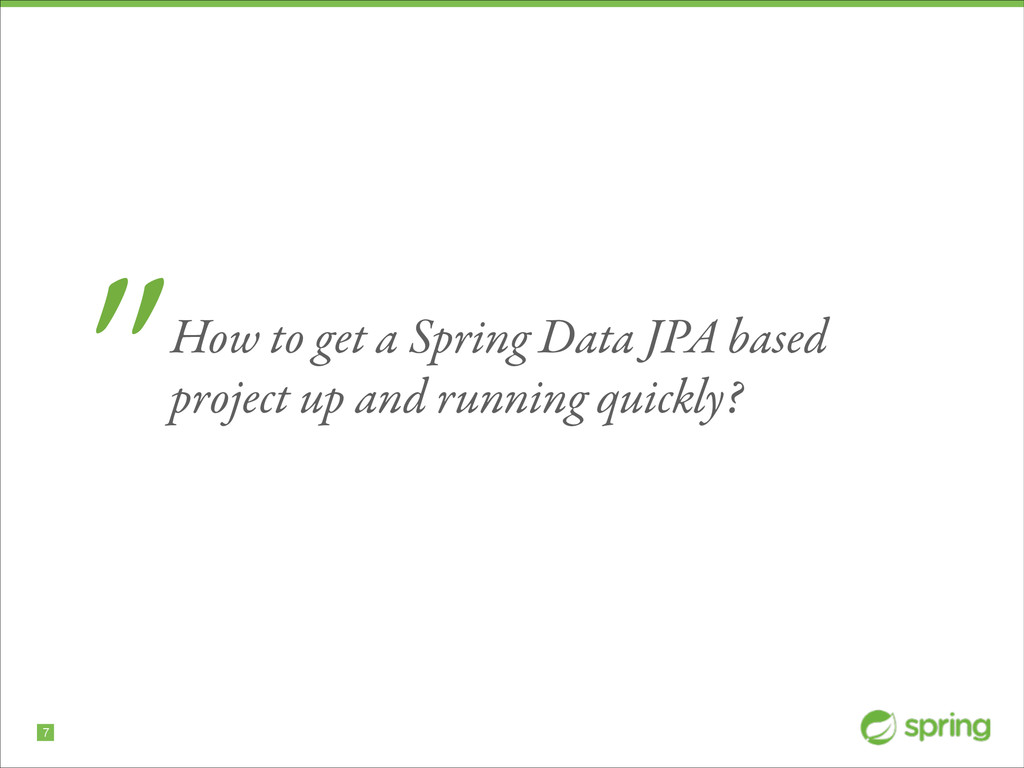 """!7 """"How to get a Spring Data JPA based project ..."""