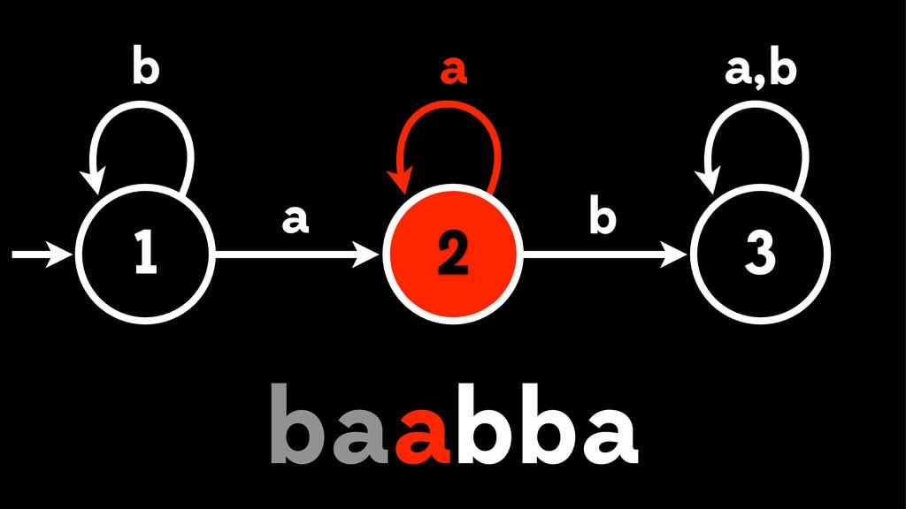 1 2 3 a b b , a a b a b bb aa 2