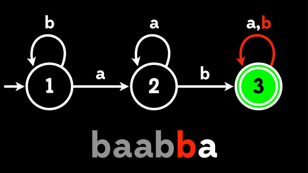 1 2 3 a b b , a a b a b bb aa 3